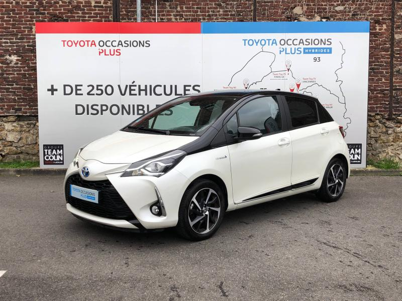 2019 Toyota Yaris - VIRY CHATILLON Ile-de France - Gamme Hybride Citadines Blanc Nacré bi-ton Toit Noir 100h Collection 5p - TEAM TOY 91 Viry Chatillon