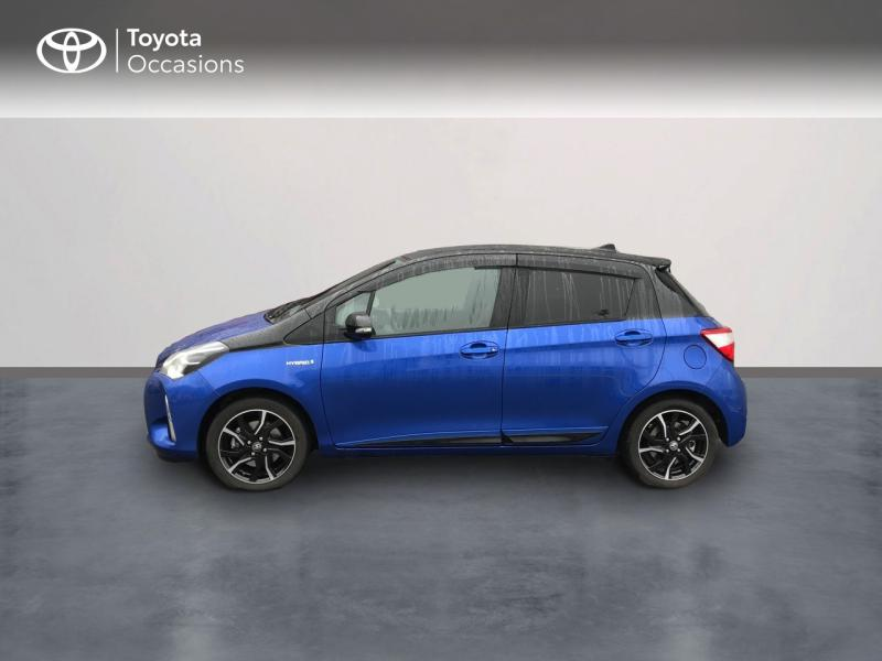 2018 Toyota Yaris - EPERNAY Champagne Ardennes - Gamme Hybride Citadines Bleu Nebula bi-ton Toit Noir 100h Collection 5p - TTR AUTOMOBILES EPERNAY