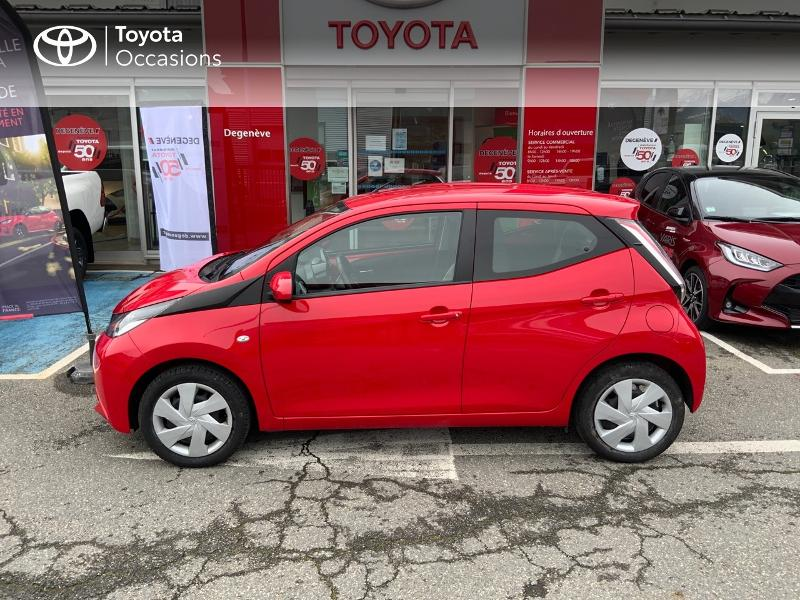 2017 Toyota Aygo - SALLANCHES RHONE ALPES - Citadines rouge 1.0 VVT-i 69ch x-play 5p - TOYOTA DEGENEVE SALLANCHES