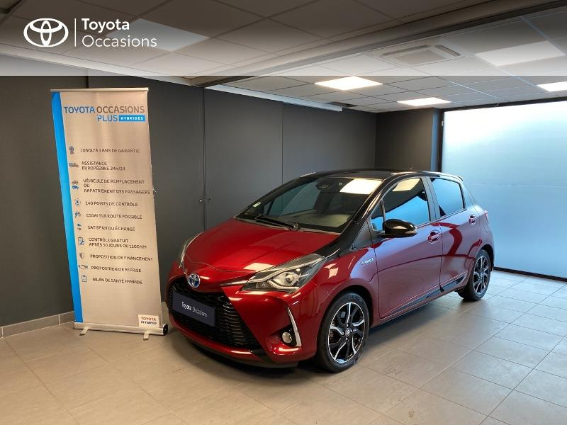 2017 Toyota Yaris - LANESTER BRETAGNE - Gamme Hybride Citadines rouge 100h Collection 5p RC18 - ALTIS Lorient